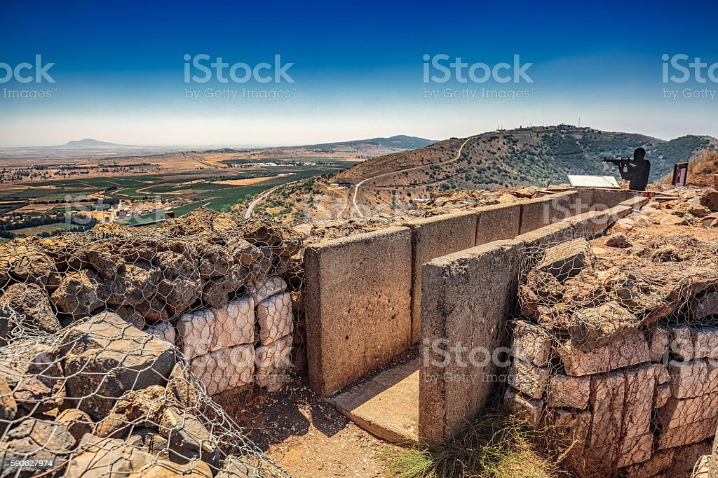 View over trench stock photo