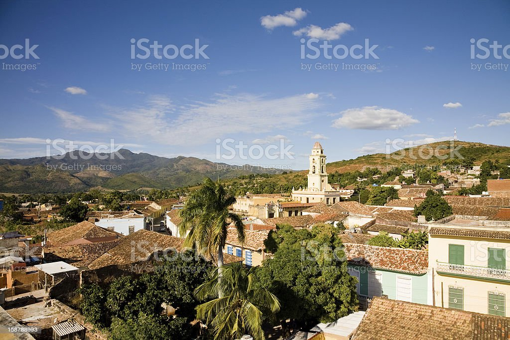 View over Trinidad royalty-free stock photo