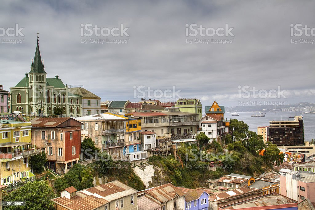 View over Valparaiso, Chile stock photo