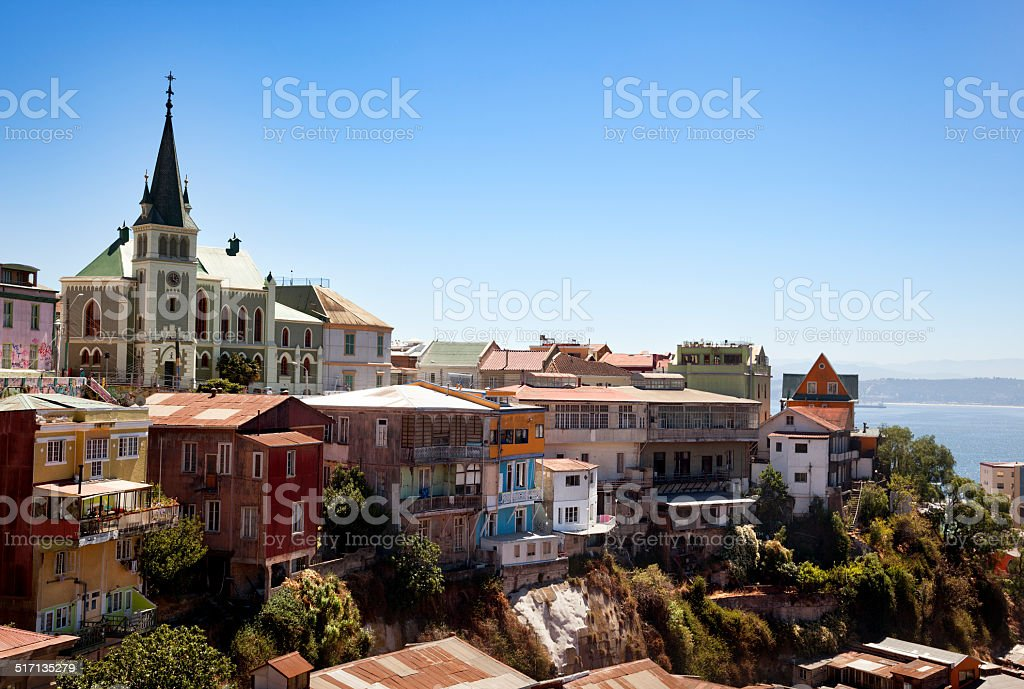 View over Valparaiso stock photo