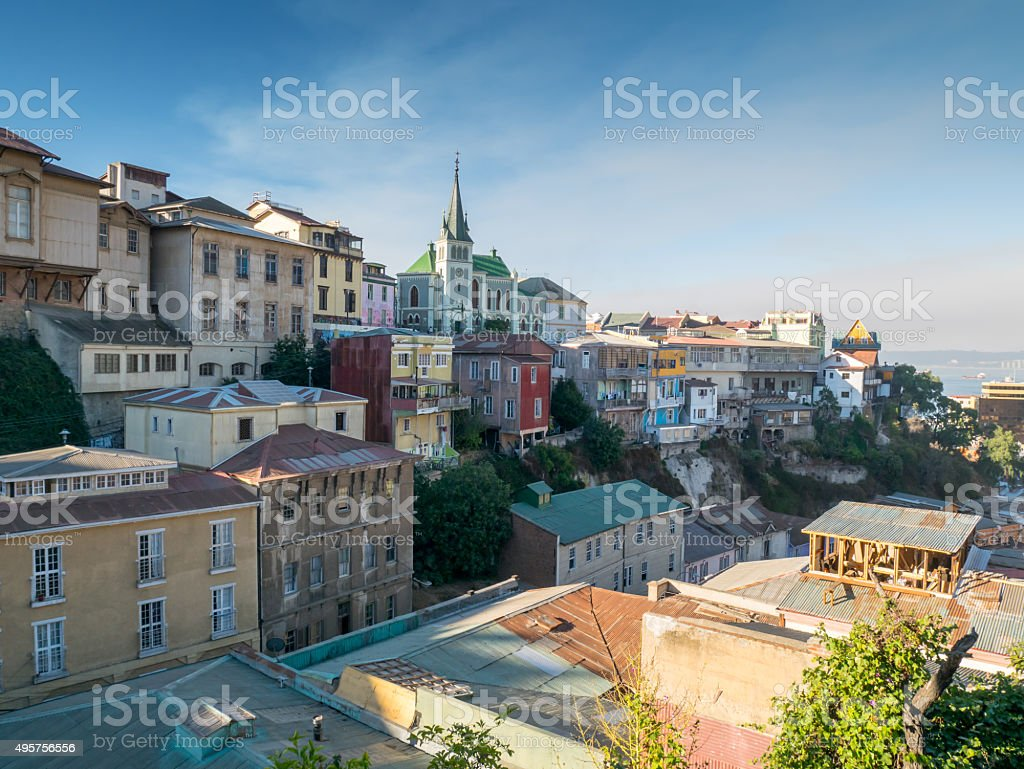 View over Varlaraiso royalty-free stock photo