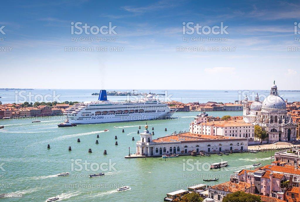 View over Venice stock photo