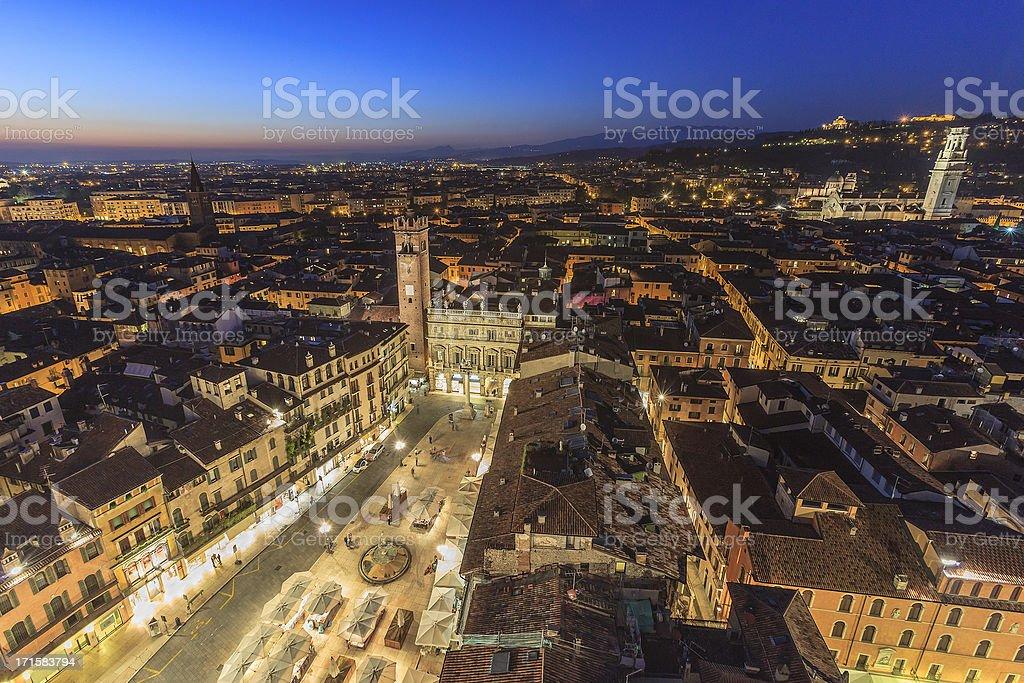 View over Verona stock photo