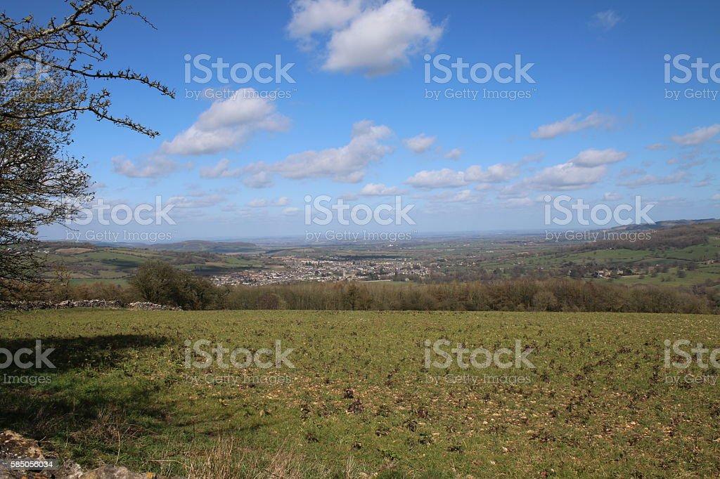View over Winchcombe stock photo