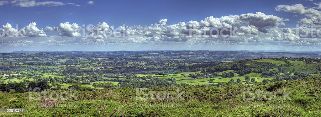 View over Worcestershire stock photo