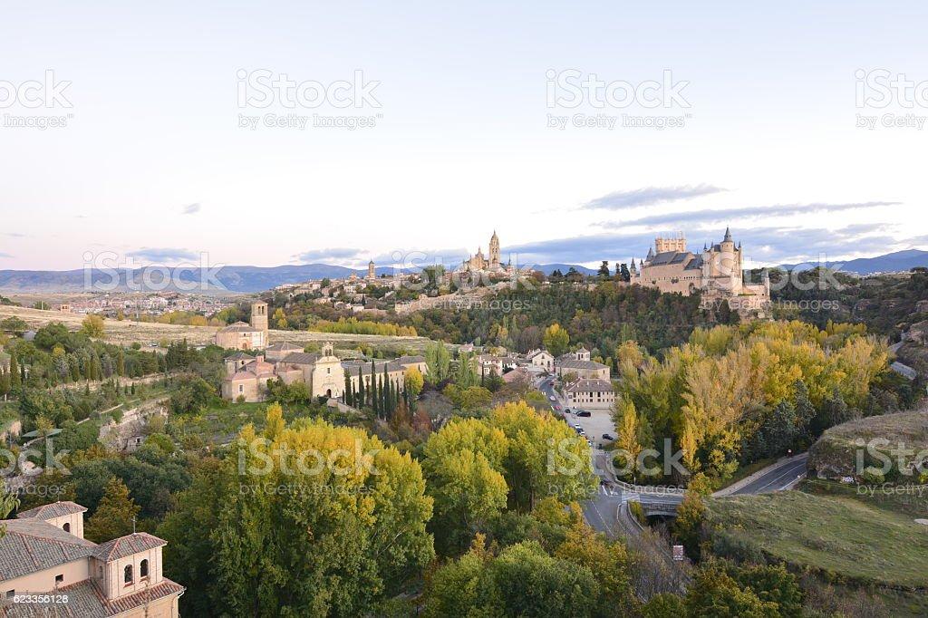 View panoramic of Segovia (Spain) stock photo