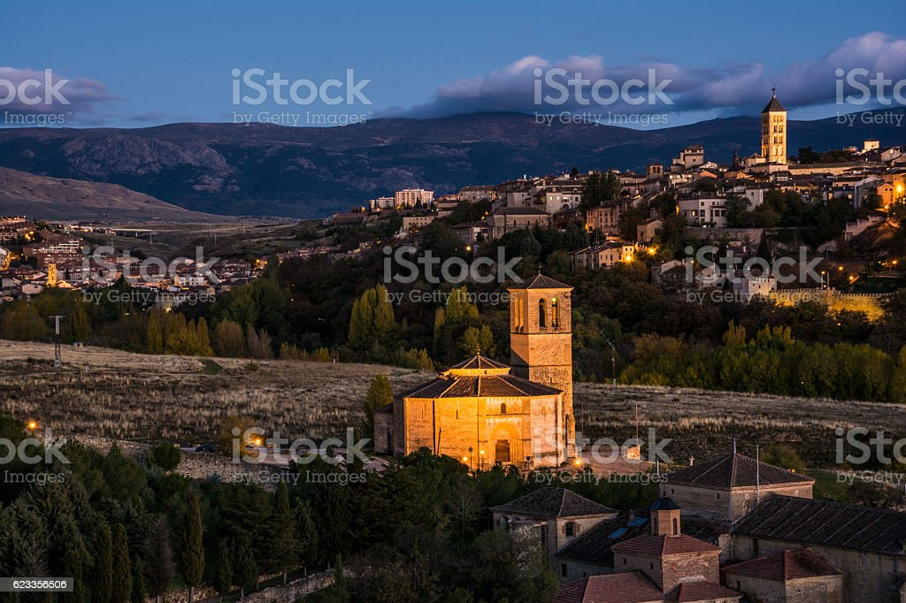 View panoramic of Segovia (Spain) stock photo