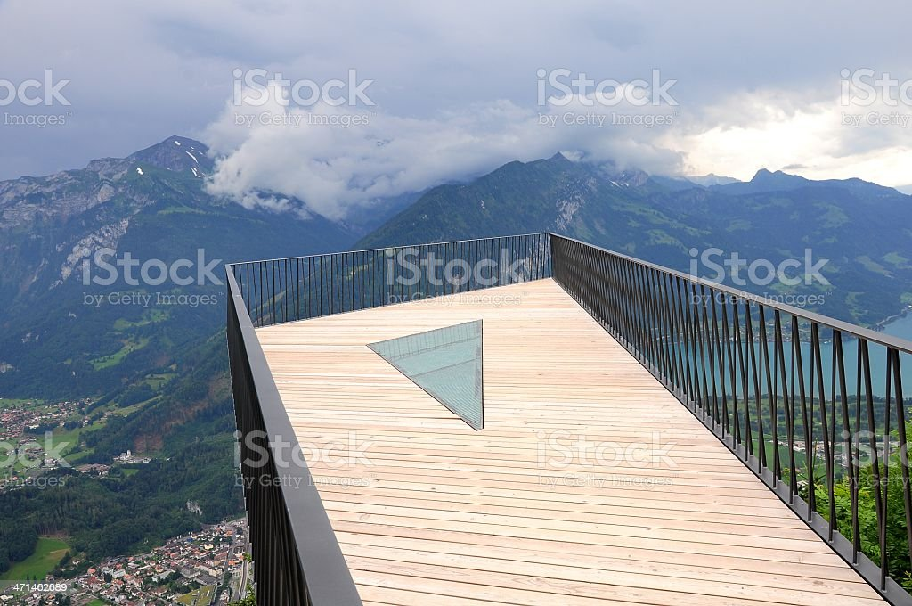 View point above Interlaken. royalty-free stock photo