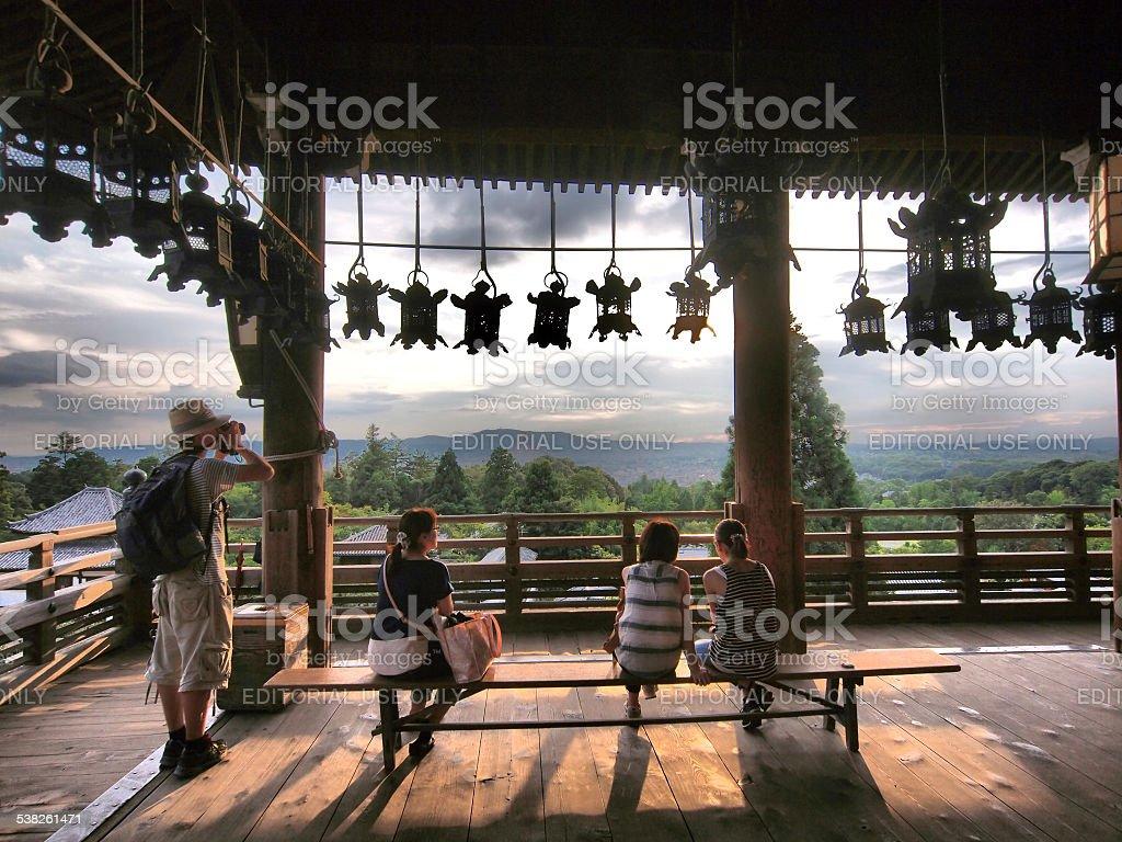 View point at Nigatsu do Hall stock photo