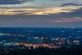 View point at wat phra phutthachai. Saraburi  THAILAND