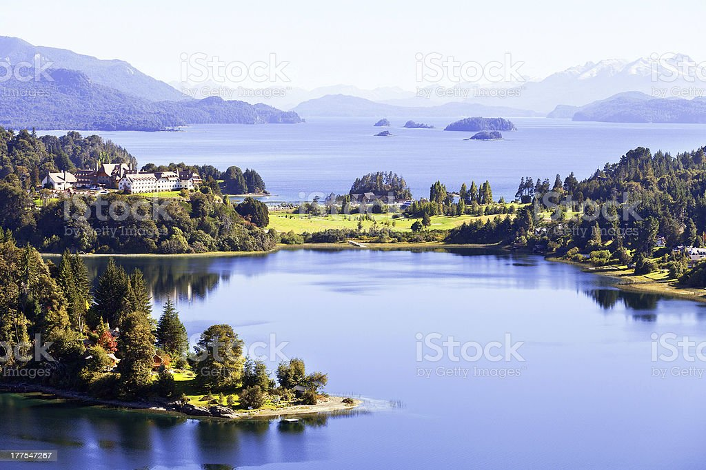 View point, Barilohe, Argentina, Patagonia royalty-free stock photo
