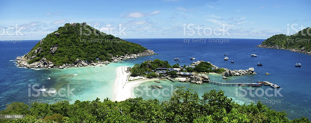 View point from mountain for see nature of NangYuan island stock photo