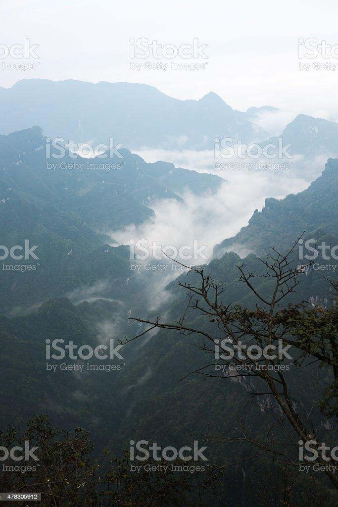 View point of Tianmen mountain stock photo
