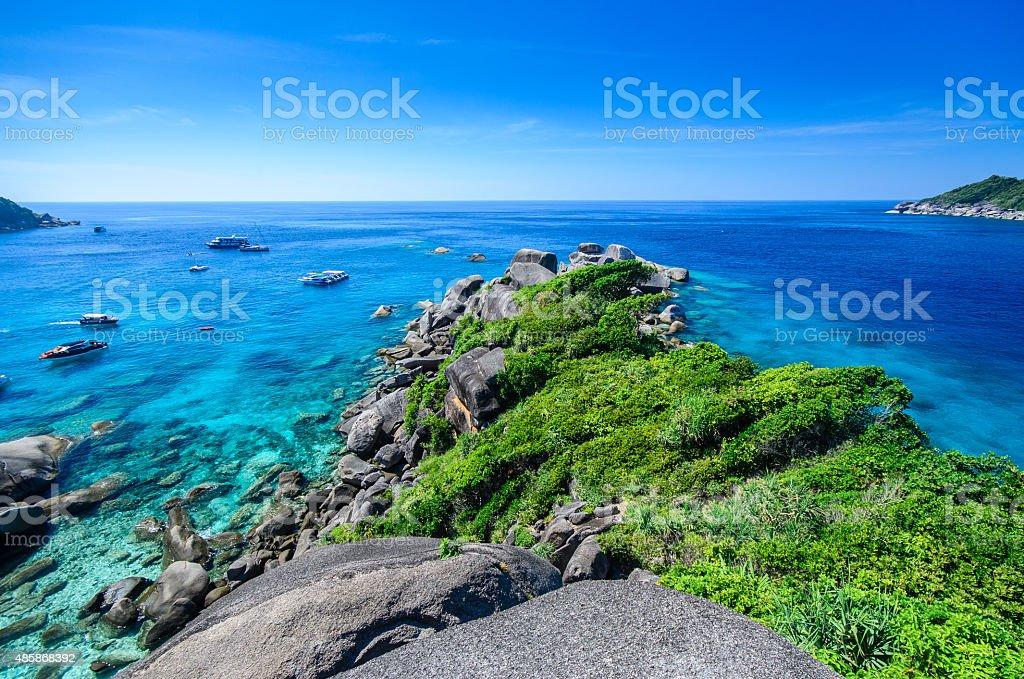 View point similan island stock photo