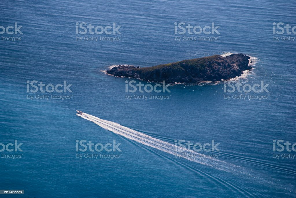 View sailing boat stock photo