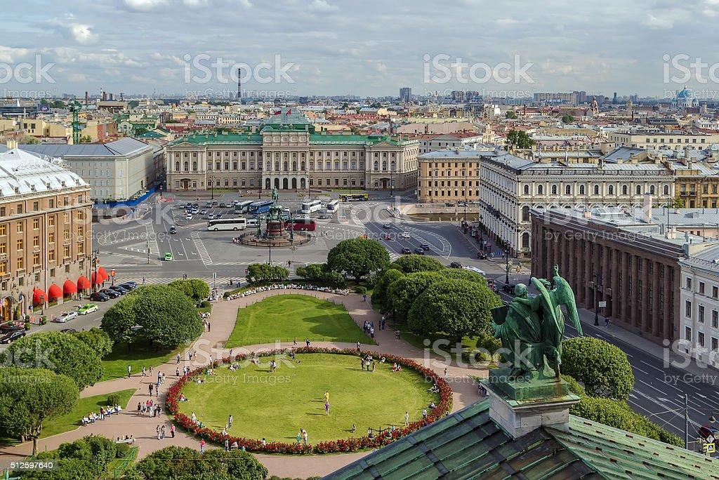 View Saint Isaac Square, Saint Petersburg stock photo