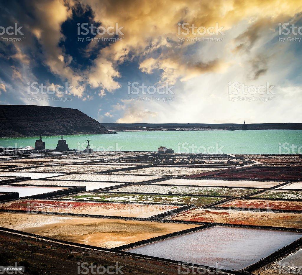 view saltworks salinas stock photo