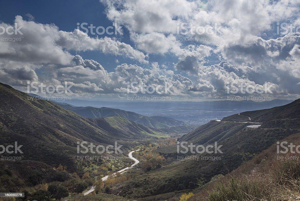 View San Bernadino Rim of World Highway stock photo