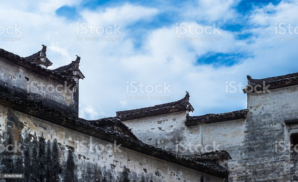 view shot from Anhui old village,Hong Cun stock photo