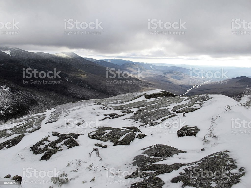 View South from Cannon Mountain Outlook stock photo