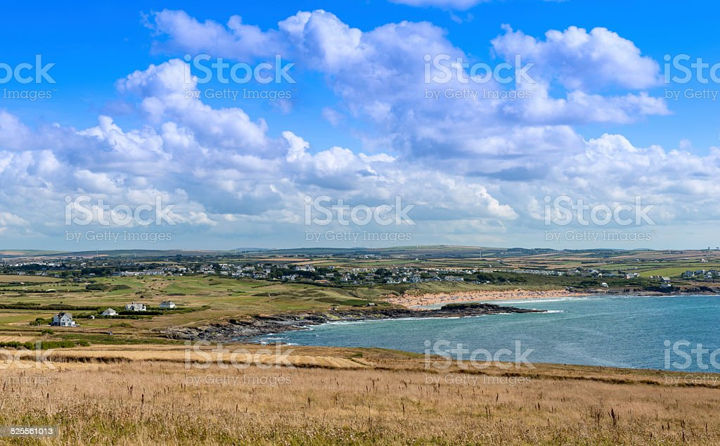 View south from Trevose Head stock photo