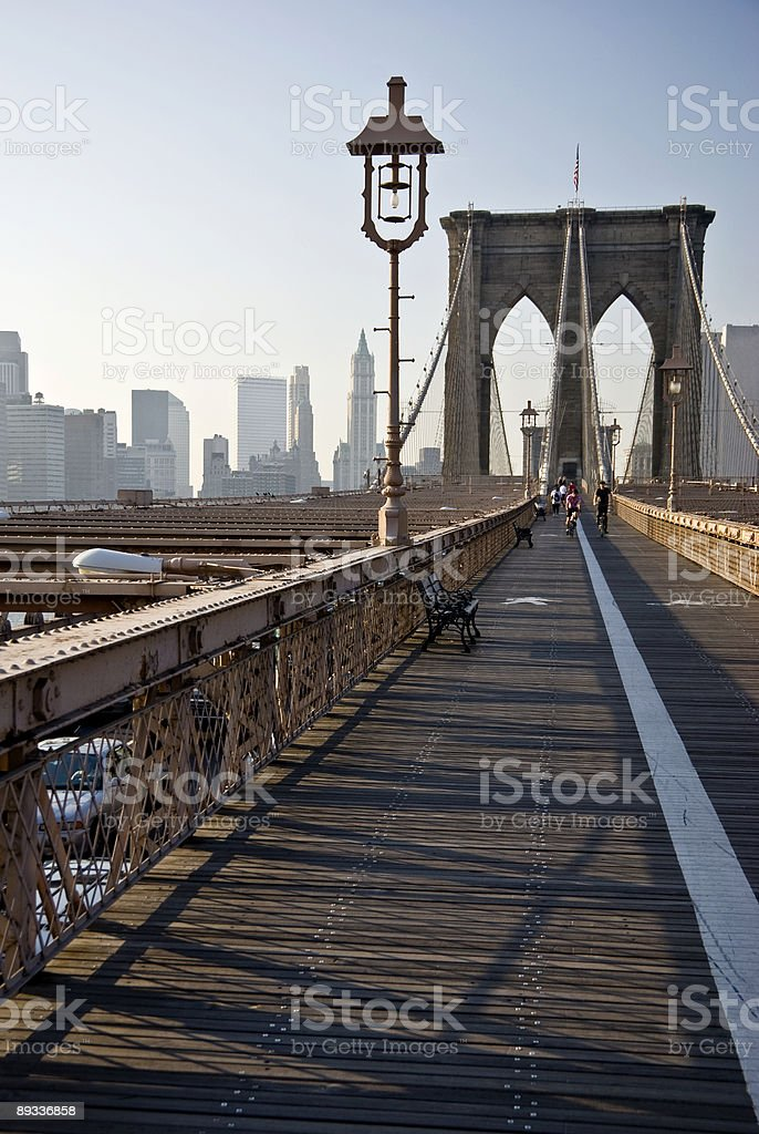 A view standing k the Brooklyn bridge  royalty-free stock photo