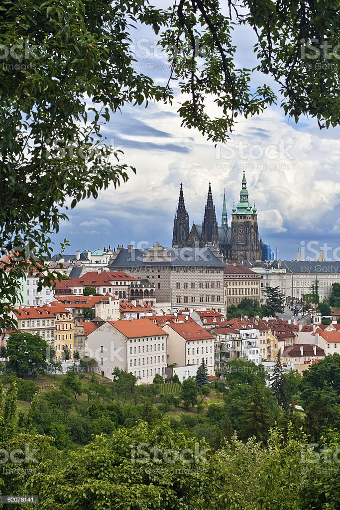 View  the center of Prague royalty-free stock photo