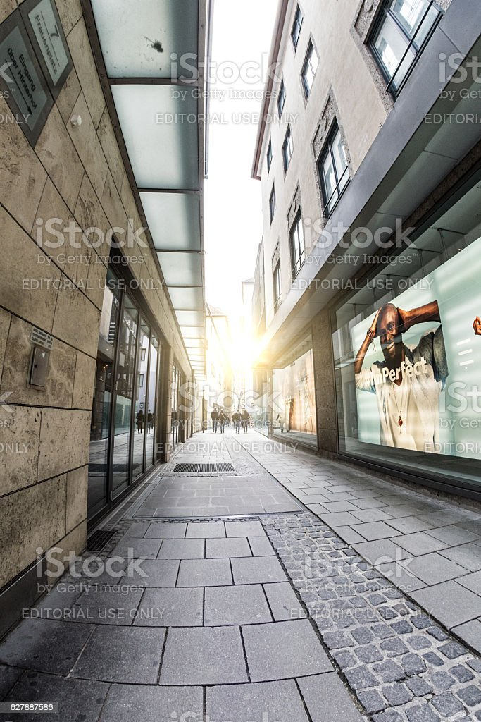 View the Mazaristrasse street. Munich, Germany stock photo