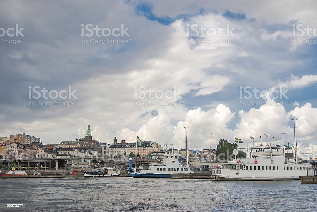 View  the old town of Stockholm. royalty-free stock photo