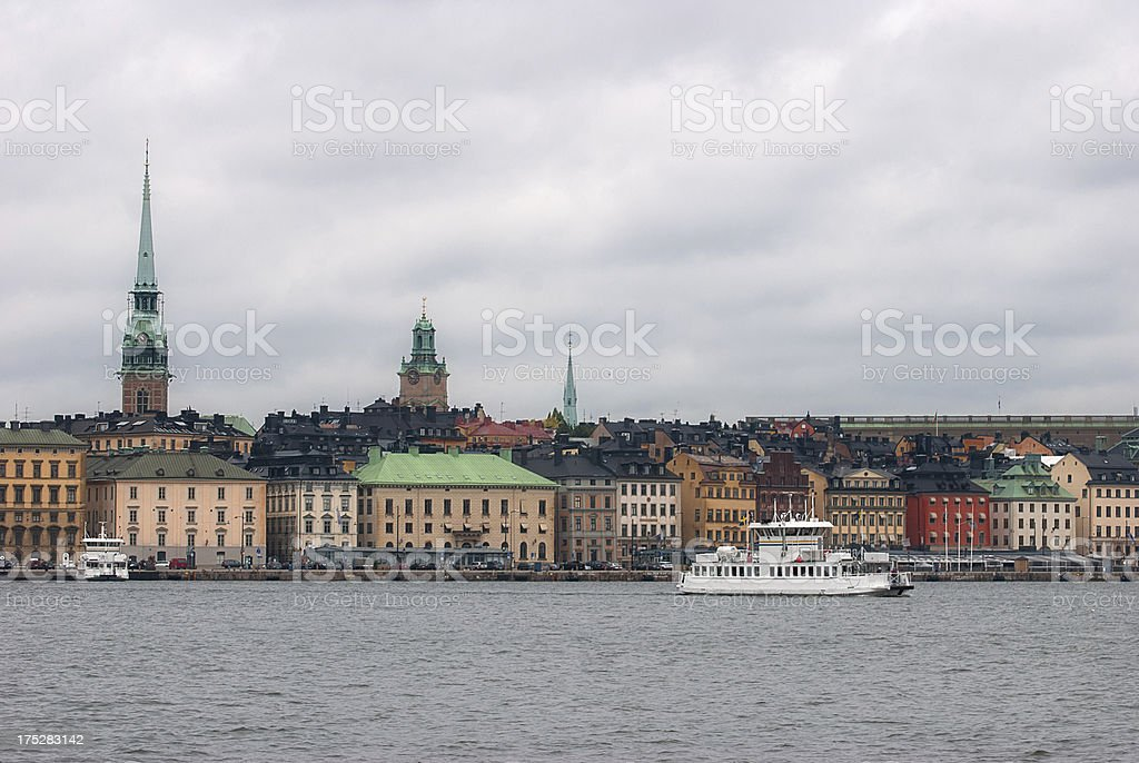 View  the old town of Stockholm. Sweden. royalty-free stock photo
