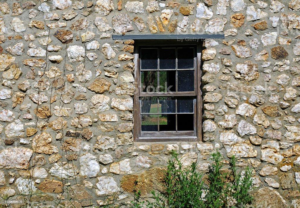 View Through a Broken Window royalty-free stock photo