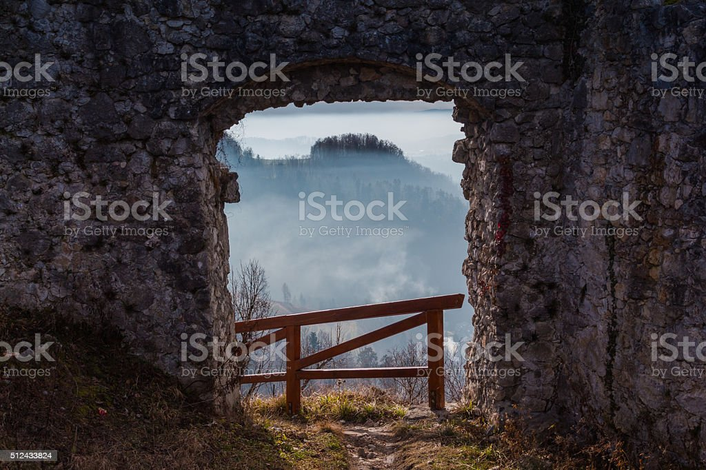 View through a passage. stock photo