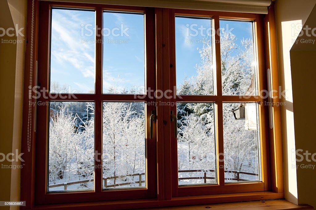 View through a window. stock photo