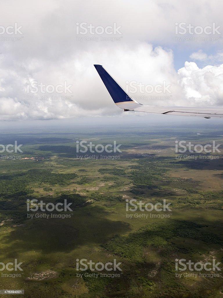 View through an airplane window royalty-free stock photo