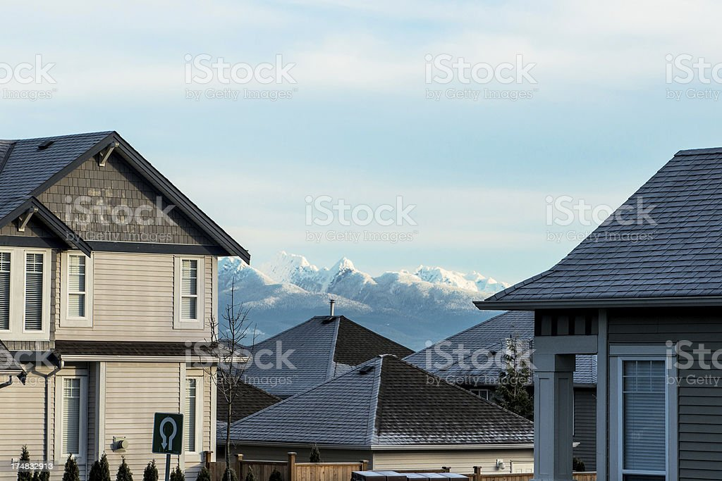 View through roof tops royalty-free stock photo