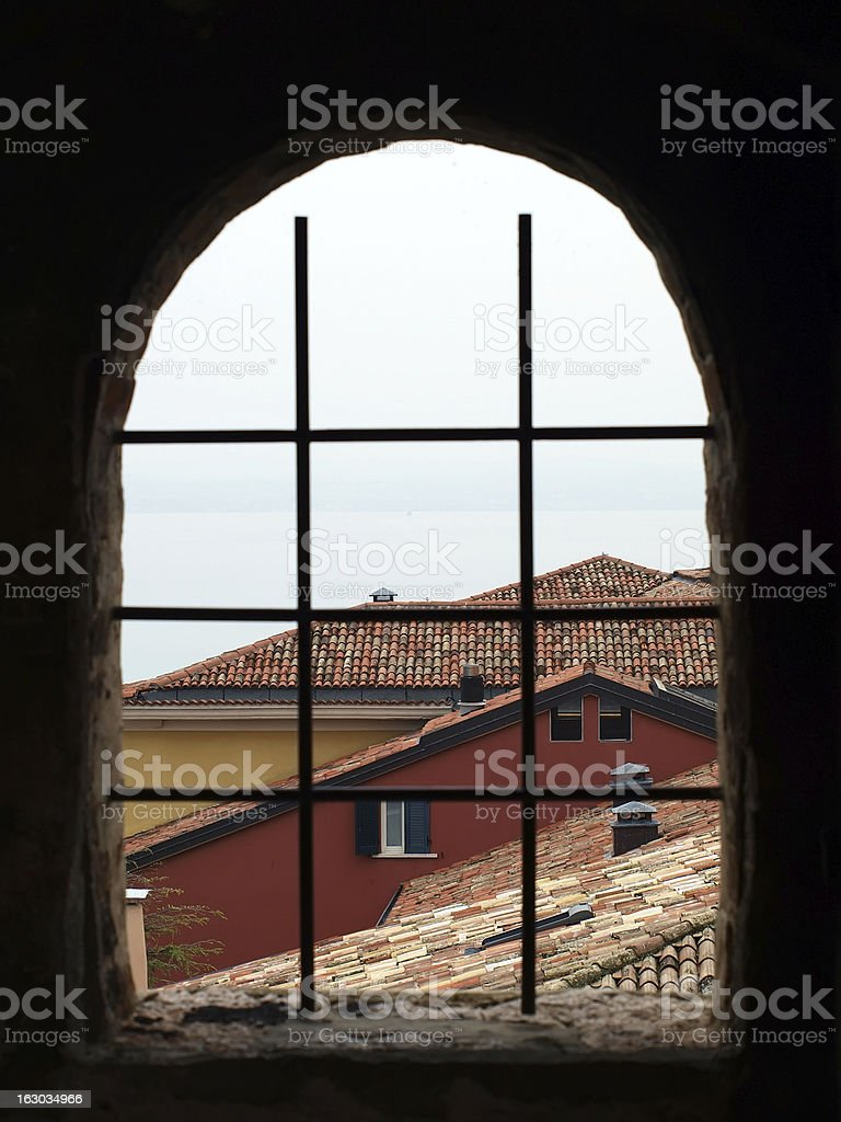 View through the Scaligers castle royalty-free stock photo