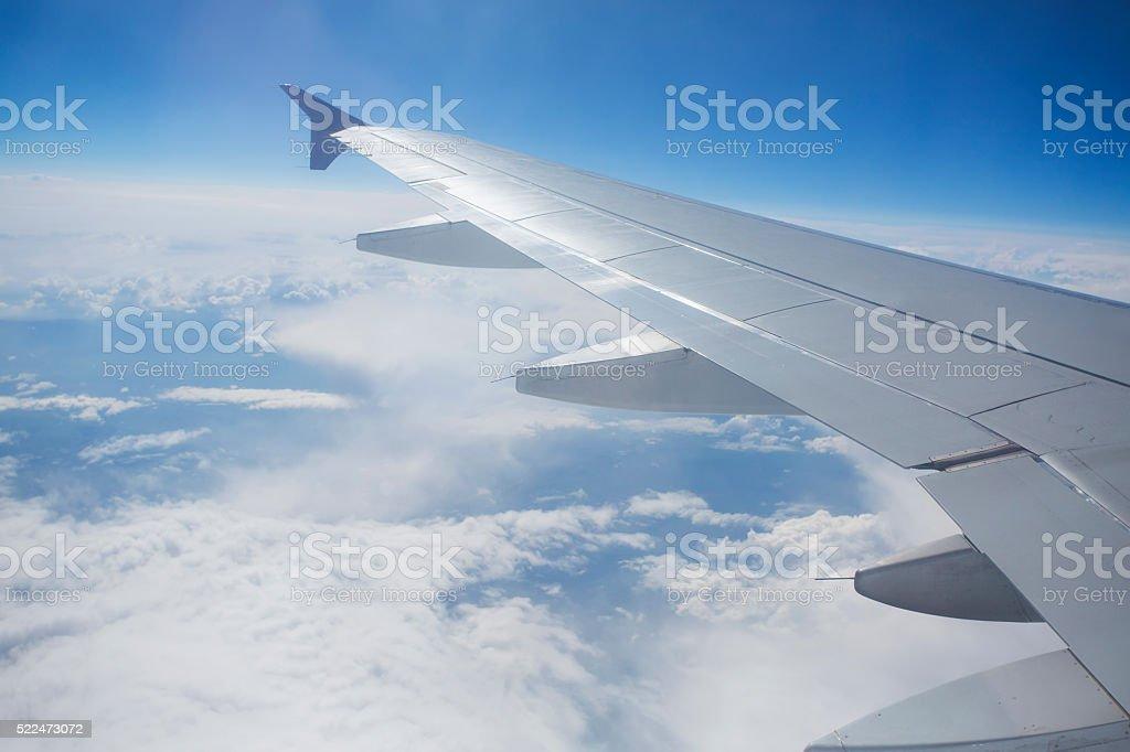 View through the window of a passenger plane stock photo