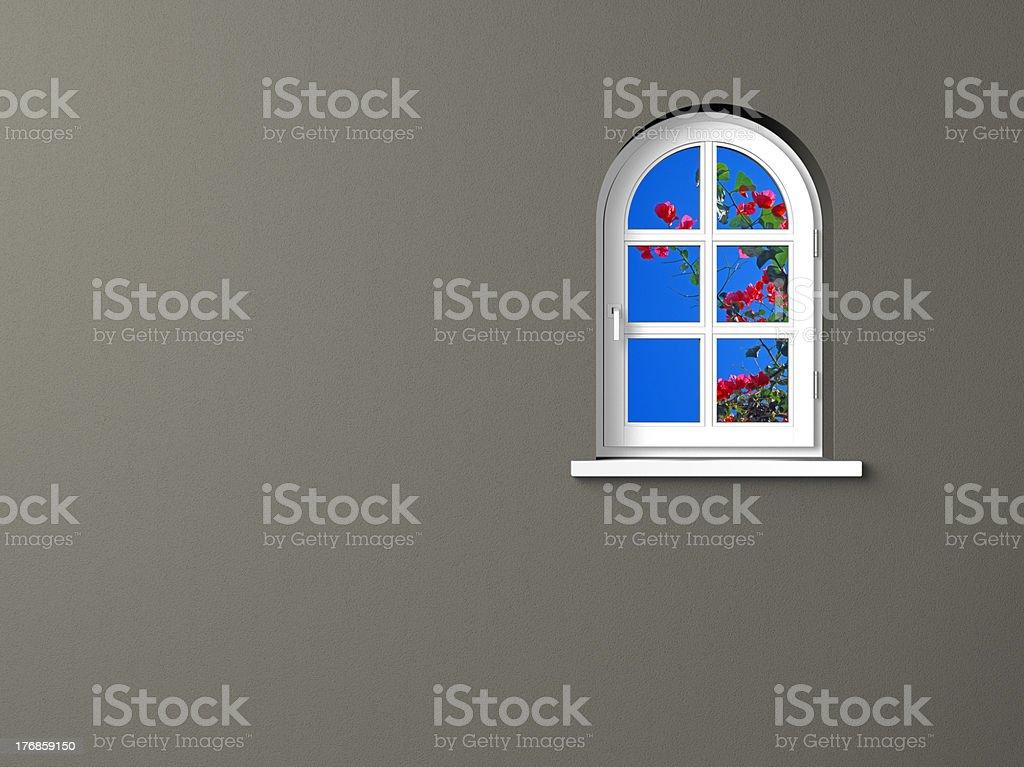 view through the window royalty-free stock photo
