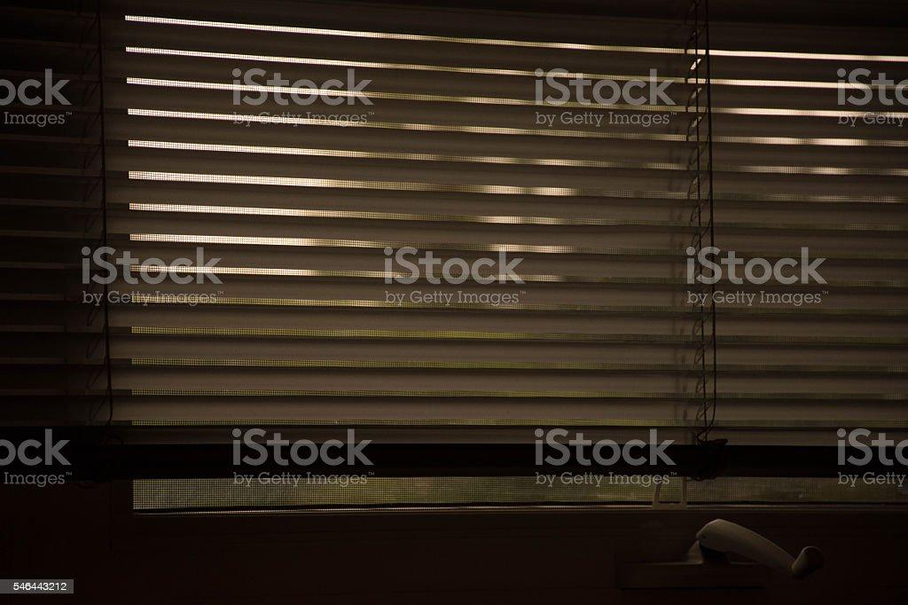 View through the window stock photo