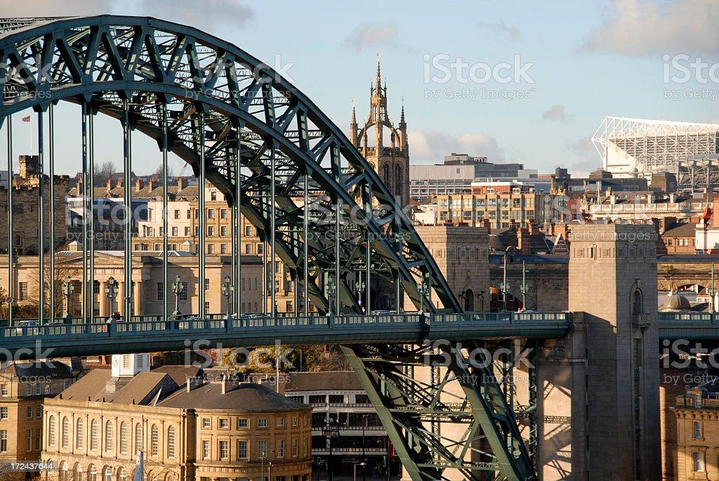 View through Tyne bridge in the daytime stock photo