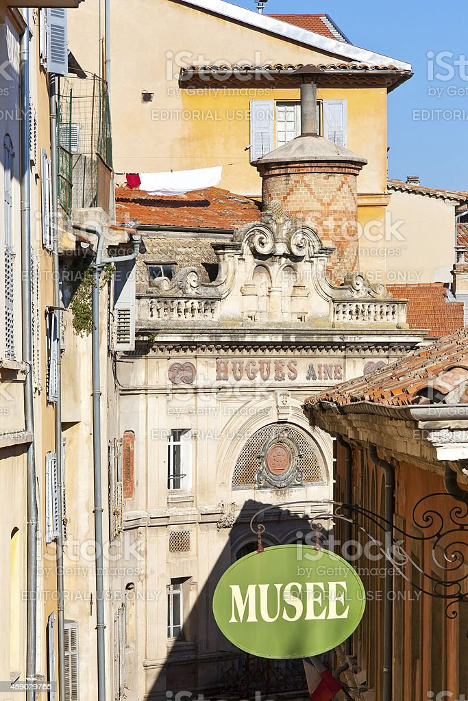 View to a little street, Grasse, France. royalty-free stock photo