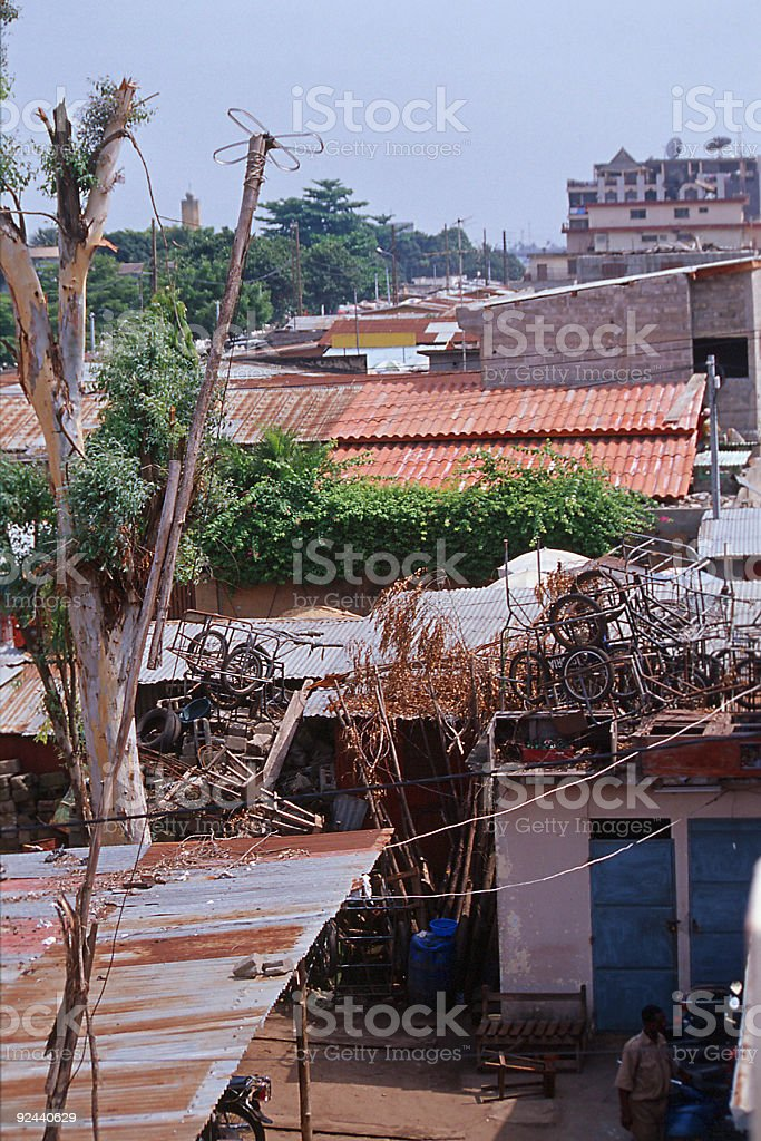 view to african backyard royalty-free stock photo