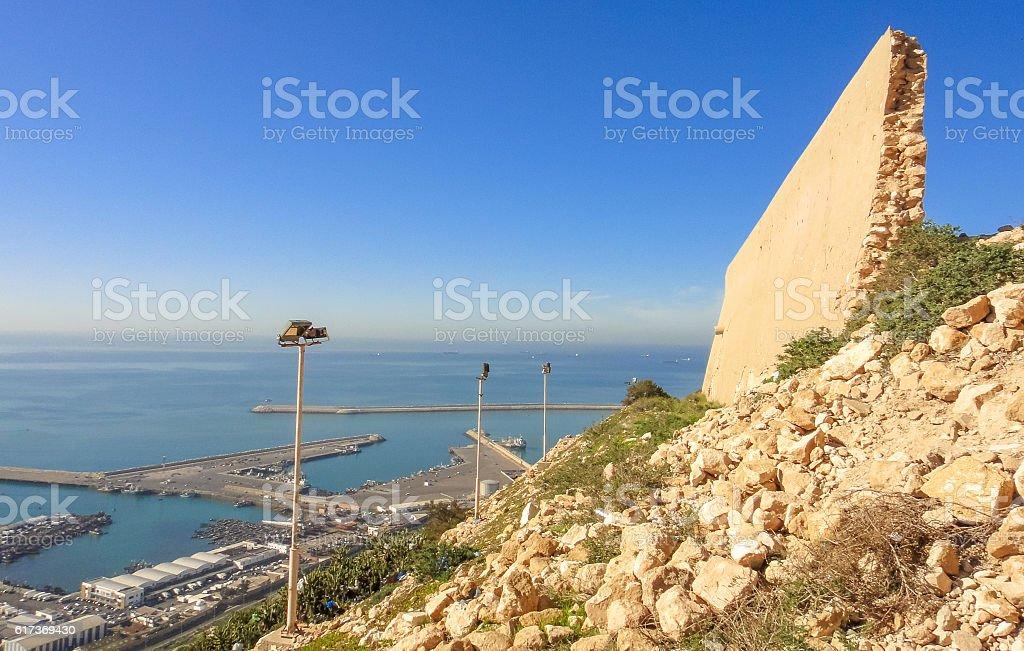 View to Agadir town from the mountain. Morocco stock photo