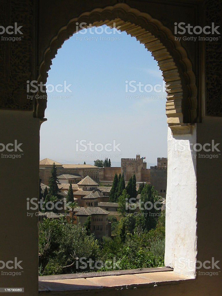 View to Alhambra royalty-free stock photo