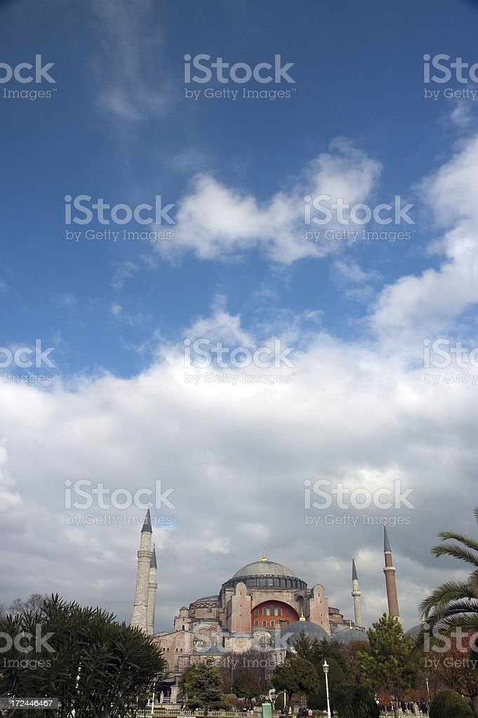 view to Aya Sofya Istanbul, Turke royalty-free stock photo