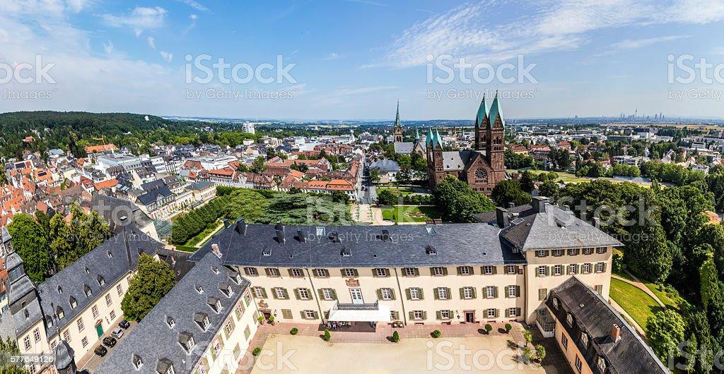 view to Bad Homburg with skyline stock photo