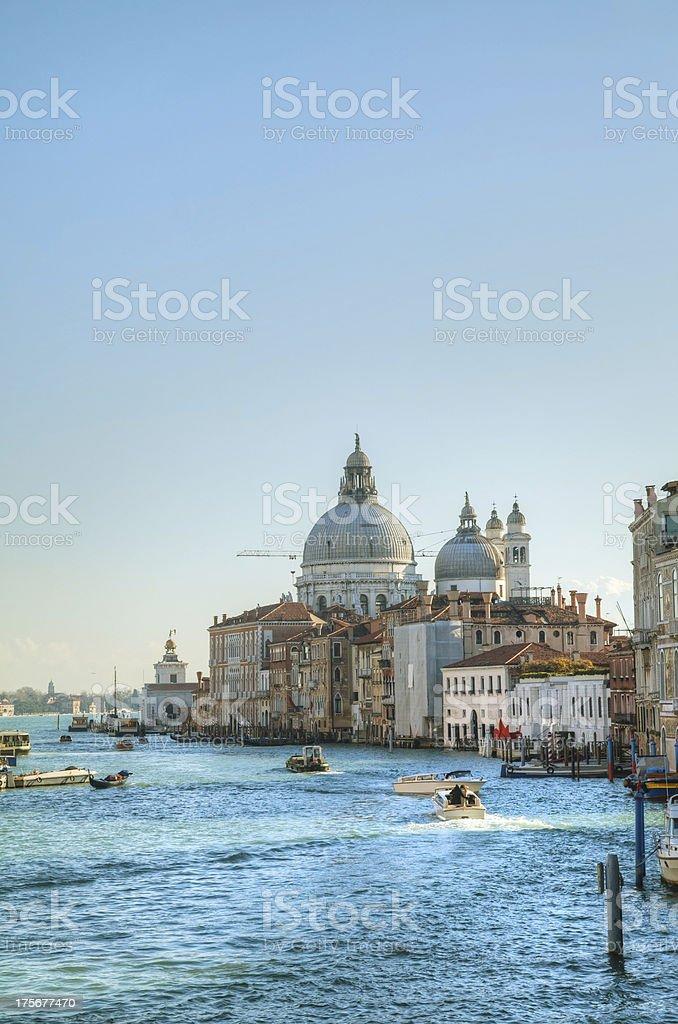View to Basilica Di Santa Maria della Salute in Venice royalty-free stock photo