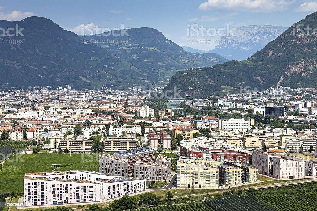 View to Bolzano stock photo