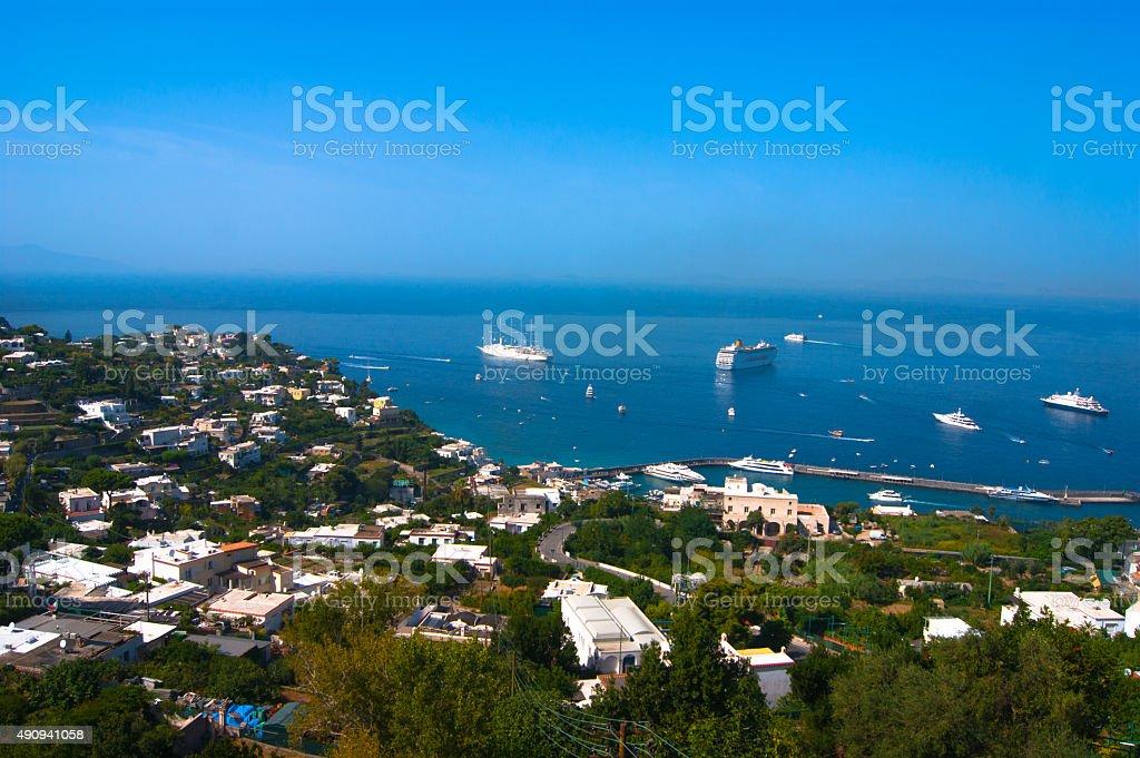 View to Capri, Italy stock photo