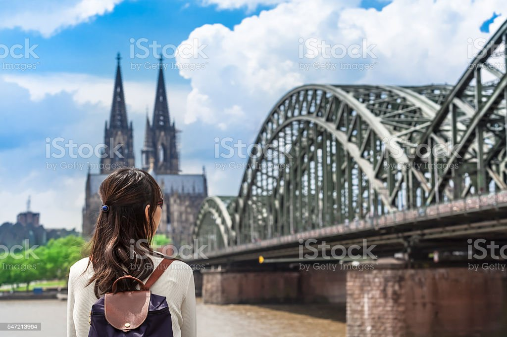 View to Cologne stock photo